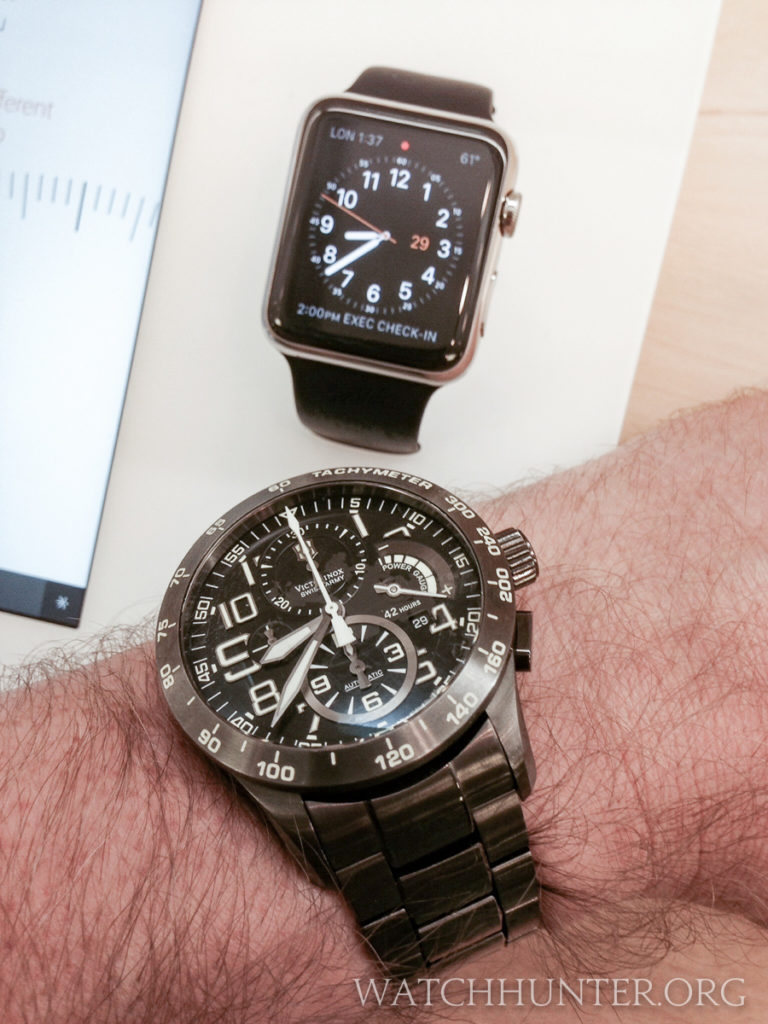 My Limited Edition Swiss Army Airboss Power Gauge versus Apple Watch