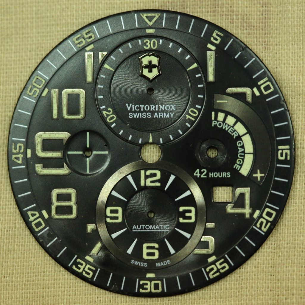 A loose Swiss Army Airboss Mach 6 Limited Edition Dial. Photo: www.ipreferanalogues.com