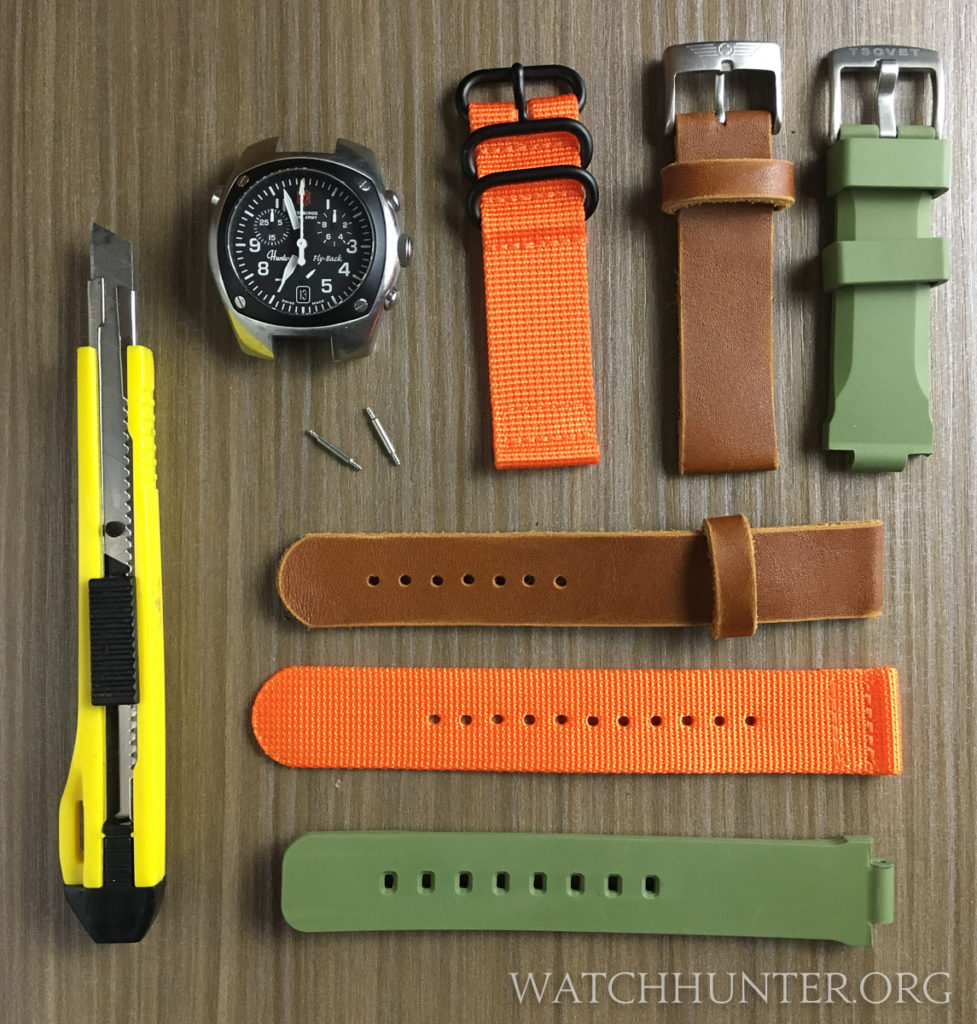 Some options to replace the Victorinox Swiss Army Hunter watch bands in nylon, leather or rubber.