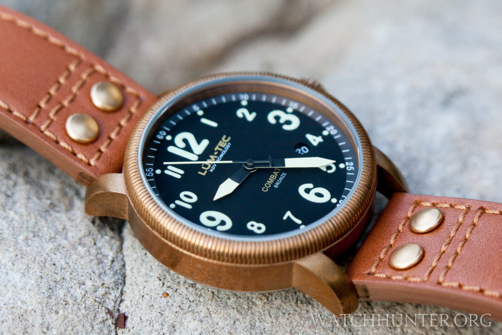 The Lum-Tec Combat B18 Bronze on the original tan strap. I think a perfect match.