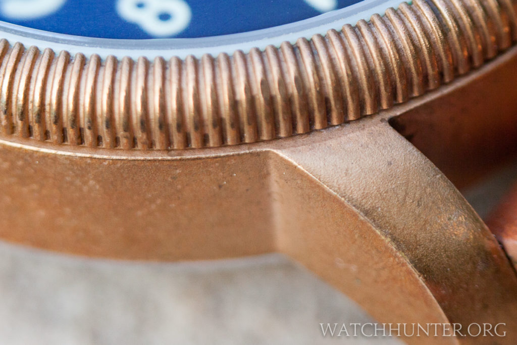 The magic of bronze watches... A closeup of my Lum-Tec Bronze Combat B18