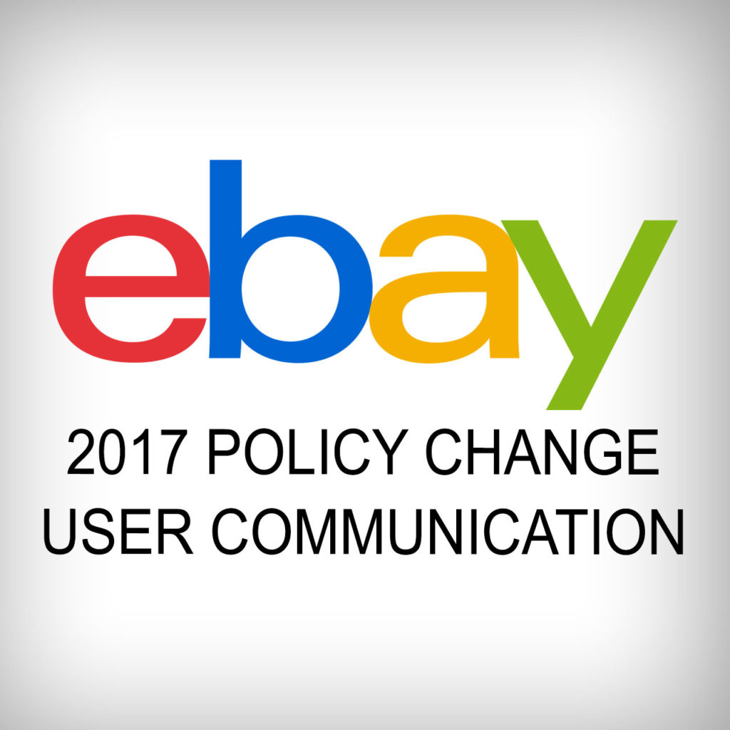 eBay 2017 policy change for communication