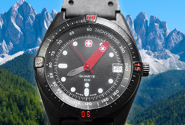 Not a Swiss Army watch... but a watch with a Swiss Army knife