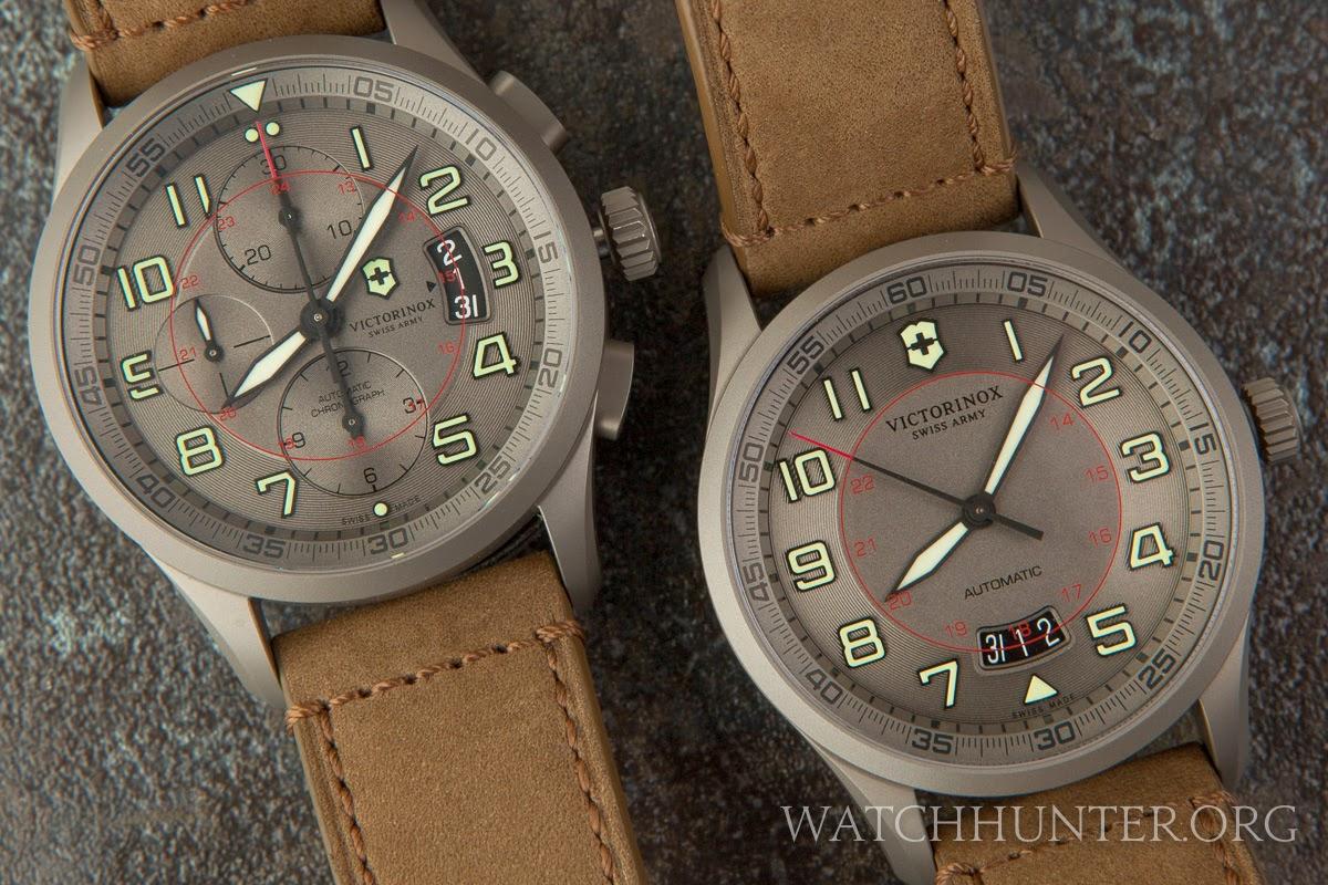 watch dna  a rare pair of victorinox swiss army titanium