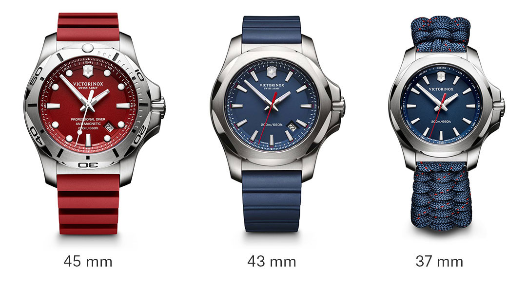 Victorinox Inox Professional Diver Red Dial Rubber Mens Watch