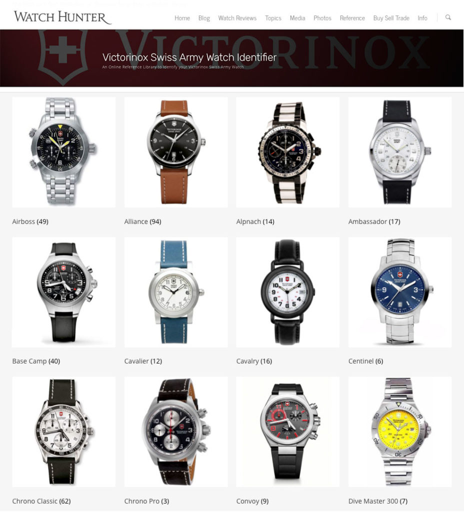 4663f7d2d16 Introducing the Victorinox Swiss Army Watch Identifier and Model Database