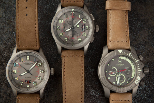 A review of the design of Victorinox Swiss Army Titanium Limited Edition watches circa 2013-2014