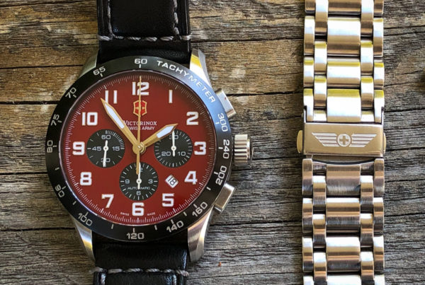 Strap Swap for Victorinox Swiss Army Airboss Mach 6 from strap to bracelet