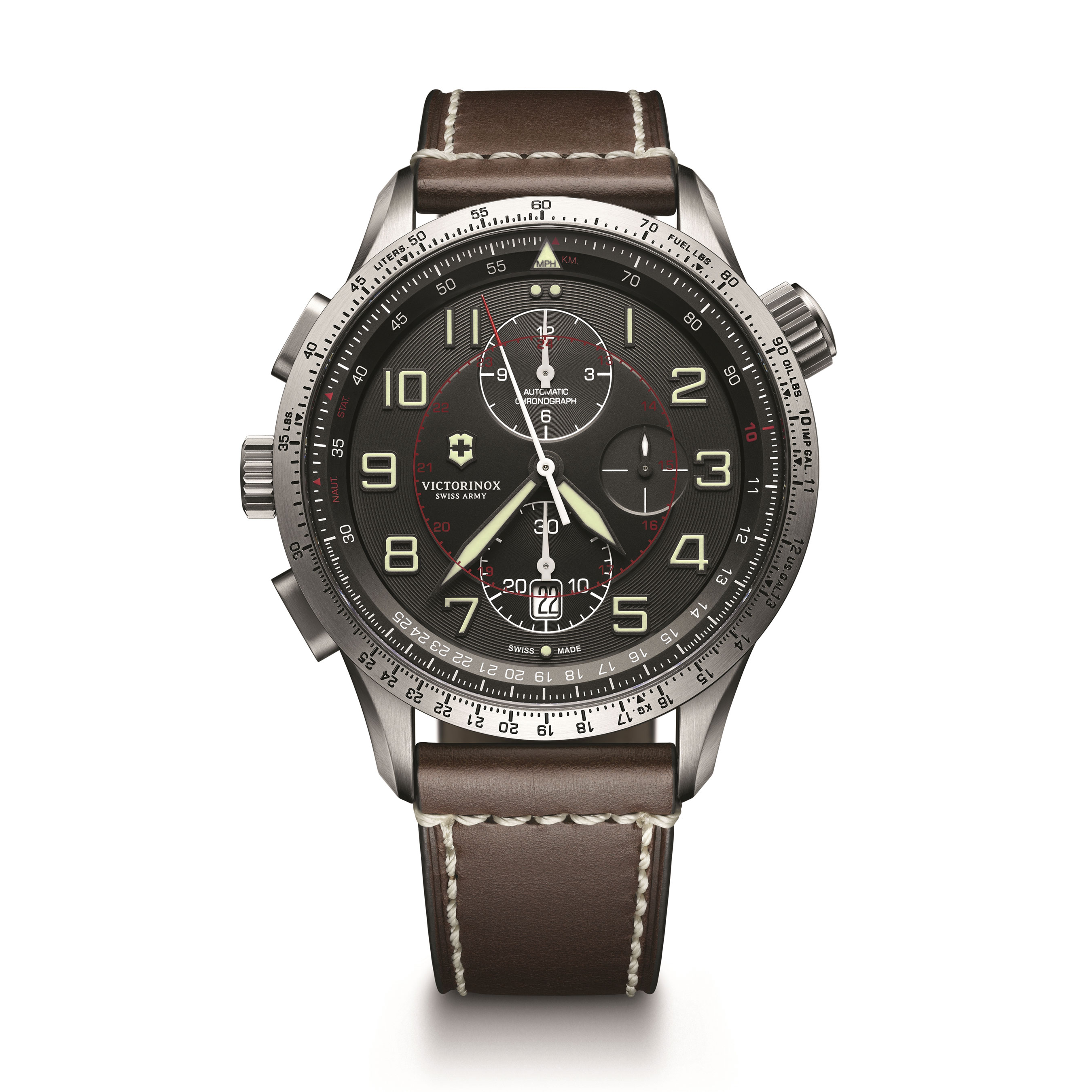 chrono swiss strap enlarged watches the pro watch victorinox realreal products army