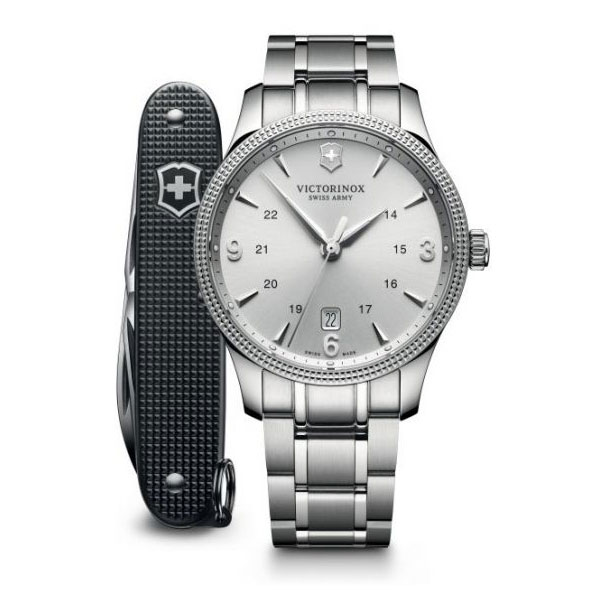 Victorinox Swiss Army 241712 1 Alliance Silver Dial